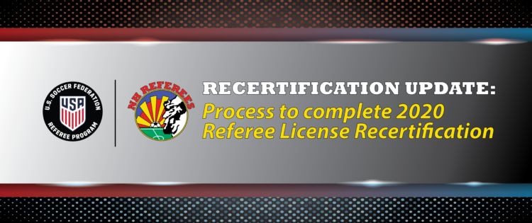 New Process to complete Referee License Recertification for 2020